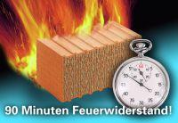 Wichtige Extra-Minuten: Mauerziegel sind nicht brennbar und bieten beispielsweise einen Feuerwiderstand von 90 Minuten und mehr.