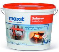 """Hohlglaskugeln in der Fassade: Mikrofeine Glasbestandteile machen """"maxit solaren"""" zu einer besonders effektiven Renovierungsfarbe."""