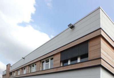 Mehr Raum für zusätzliche Arbeitsplätze bietet das Gebäude R3 für den Projektbauspezialisten Brüninghoff in Heiden. Foto: Lameko