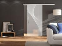 Glastüren in Laserdesign der neuen Serie G bei ganzglasltuere.de   Foto:Griffwerk