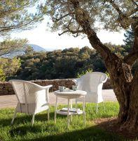 """Gartensessel-Klassiker """"Lloyd-Monte Carlo"""" aus original Lloyd Loom."""