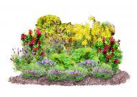 Gestaltungsidee essbarer Staudengarten mit Landgefühl®-Pflanzen