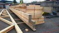 Nagelplattenbinder:von GIN-Mitgliedern wettergeschützt gefertigt und richtfertig zur Baustelle gebracht.Meiling/GIN,Ostfildern