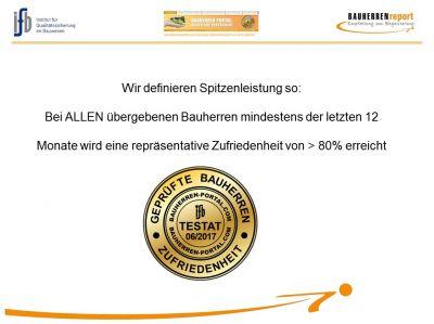 Definition von Spitzenleistungen im Hausbau (BAUHERRENreport GmbH)