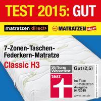 7-Zonen-Taschen-Federkern-Matratze Classic H3