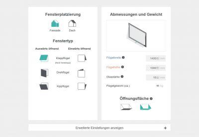 """Mit dem """"AntriebsFinder"""" hat WindowMaster ein Tool entwickelt, das Fensterantriebe für verschiedenste Bauvorhaben empfiehlt."""