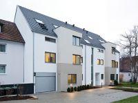 Beim Mehrfamilienwohnhaus in Stuttgart setzte man auf die monolithische Bauweise mit gefüllten Ziegeln (Foto: Unipor, München).