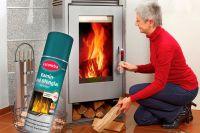 Caramba gibt den Blick aufs gemütliche Kaminfeuer frei.