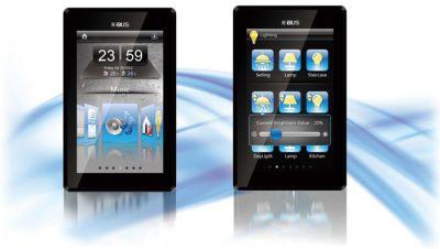 Die neuen GVS Touch Panel werden in schwarz, weiß und silber angeboten