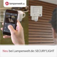 LED-Außenwandleuchten SECURY'LIGHT von Lutec mit integrierter Kamera jetzt bei Lampenwelt.de erhältlich