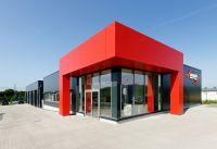 Die Gestaltung in Firmenfarben gemäß des Corporate Designs fließt in die Corporate Architecture ein.  Foto: Brüninghoff