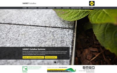 Mehr Service für Garten- und Landschaftsbauer von SAKRETmit der neue Website für den GaLaBau-Profi (c)www.sakret.de/galabau