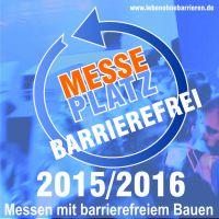 Deutlicher Hinweis auf MessePlatz für Barrierefreiheit