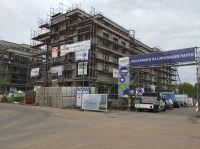 Die Baustelle im Lindenauer Hafen wird durch BauWatch gesichert.
