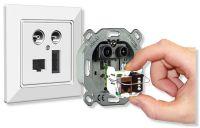 Ihre variable Anschlussbelegung macht die homeway Multimediadose zu einem flexiblen Allesmacher.