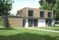 """Passivhäuser der Serie """"Primus"""" von Hanlo vereinen bestmögliche Energieeffizienz und moderne Architektur. (Foto: HANLO Haus)"""