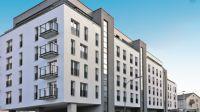 Im Heilbronner Zentrum an der Kreuzung Cäcilien- und Rosenbergstraße steht das neue Mehrfamilienhaus nach Passivhaus-Standard.
