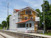 Bahnhof Uffing: Energetische Sanierung mit INTHERMO Holzfaser-WDVS. Foto:Achim Zielke(mit Erlaubnis der Deutsche Bahn AG,Berlin)