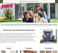 Fenster, Haustüren und Glasprodukte präsentiert die Firma pmt aus Kolbermoor auf der neuen Website