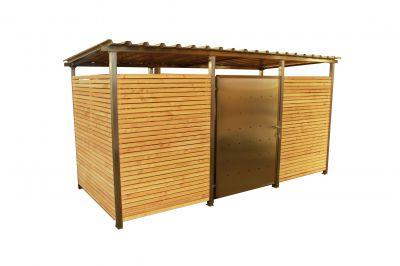 Containerhaus Gr. 2 für zwei Müllcontainer á 1.100 Liter sowie zwei Mülltonnen á 240 Liter