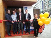 (v.l.n.r): Christian Kühn (MdB), Michael Lohr, Jan Endemann, Karl Greising (Ministerialdirigent), Alexander Kotz (HWK-Stuttgart)