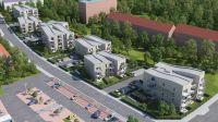 """""""Sieben Moislinge"""": Die sieben Mehrfamilienhäuser reihen sich aneinander (Bild: Grundstücks-Gesellschaft TRAVE mbH, Lübeck)."""