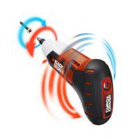 Der bewegungsgesteuerte Akkuschrauber Gyro Driver von Black&Decker variiert Drehgeschwindigkeit und -richtung je nach Handbewegung
