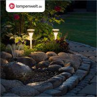 Ein mit Licht inszenierter Garten wirkt beeindruckend. | © Lampenwelt.de