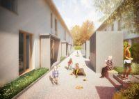 Das neue BV-Lb-Modell bringt den sozialen Wohnungsbau einem Eigenheim ganz nahe. Grundlage sind Reihenmiethäuser mit Garten.