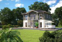 Wer von den eigenen vier Wänden träumt, wünscht sich zumeist ein größeres, freistehendes, repräsentatives Haus. (Foto: HANLO Haus)