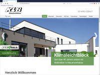 Klare Linien und aussagekräftige Bilder: Der überarbeitete Web-Auftritt von KLB Klimaleichtblock zeigt sich mit frischem Design.