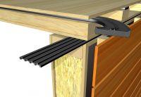 Die STG-Dichtung sorgt für eine Verbesserung der Trittschalldämmung im Bereich von Holzdecken. Foto: Trelleborg