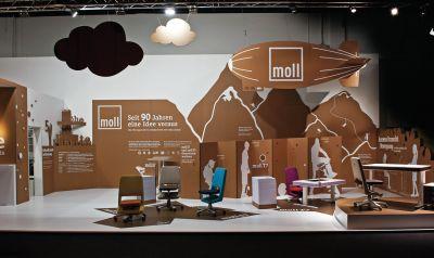 moll Messestand auf der Internationalen Möbelmesse in Köln