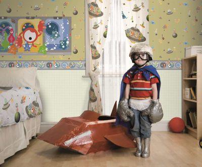 """Die Welt mit Kinderaugen sehen. Freiraum für Fantasie lassen. """"Coconet"""", die lustige Kindertapete."""