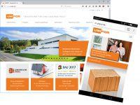 Der neue Online-Auftritt von Unipor überzeugt durch modernes Design und intuitive Menüführung (Bild: Unipor, München).