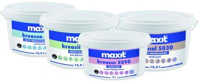 Das neue Innenfarben-Sortiment der Maxit-Gruppe überzeugt mit einheitlichem Layout und verbesserten Rezepturen.