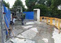 Bei Auto-Waschanlagen und Waschplätzne entstehen schnell Schäden im Betonboden, die professionell zu sanieren sind.c.Sinnotec GmbH