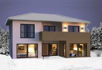 Warm und energieeffizient auch im Winter: Fertighäuser von Hanlo. (Foto: Hanlo-Haus)