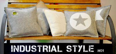 Industrial Style - Coole Filzkissen selbst gestalten