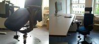Behindertengerechter, ergonomischer Büroarbeitsplatz