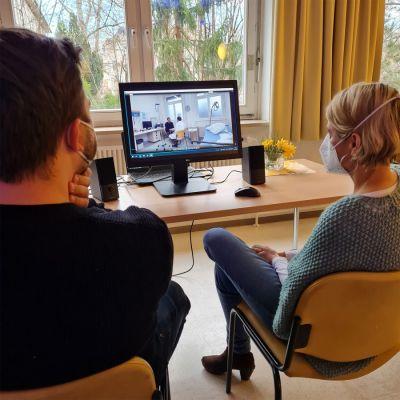 Die Workshop-Videos aller Teilnehmenden wurden im persönlichen Coaching ausgewertet. (© Krankenhaus Bethel Berlin/ S. Peters)