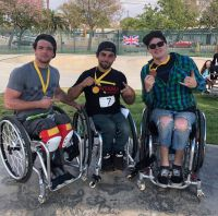 David Lebuser verteidigt 3. Platz bei den Rollstuhl Skate Weltmeisterschaften