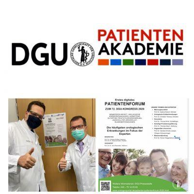 Prof. Dr. med. Dr. phil. Johannes Huber und Prof. Dr. med. Christian Thomas freuen sich über Ihre Teilnahme an der Foto-Aktion.