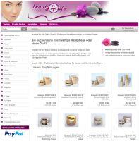 Der Onlineshop www.beauty-4-life.de in neuem Look