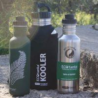 Wasser trinken beim Wandern - Ecotanka - BPA-freie Trinkflaschen aus Edelstahl