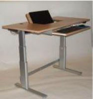 Ergonomisch-optimierter und elektrisch-höhenverstellbarer Steh-Sitz-Arbeitstisch AXIMA HT von ADION