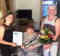Regina Dill ist die 1. Teilnehmerin am Greifswalder Forschungsvorhaben Alterssichere Wohnung des GeWINO