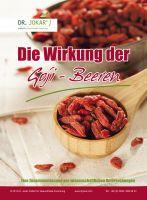 Titelseite des Informationsblattes über Goji-Beeren