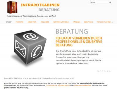 Screenshot des Ratgeber-Portals Infrarotkabinen-Beratung.de