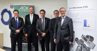 Heribert Fastenmeier, Ulrich Resch, Prof. Dr. Dierk Vorwerk, Oliver Korsawe und Dr. Richard Henkelmann. Foto: Klinikum Ingolstadt
